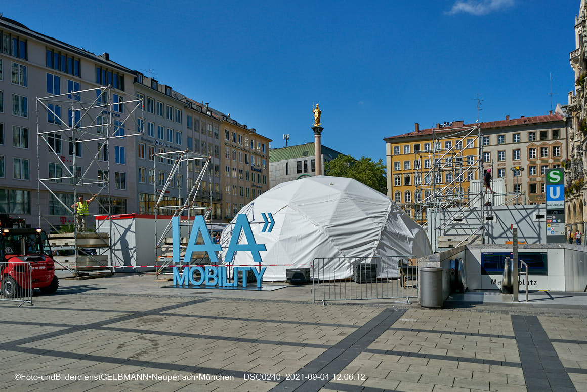 04.09.2021 -IAA - Automobilaustellung auf dem Marienplatz in München
