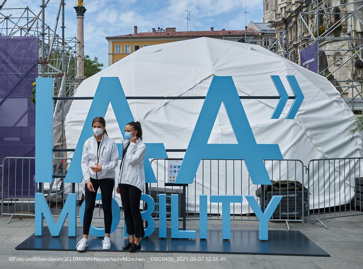 07.09.2021 - IAA-Eröffnung auf dem Marienplatz