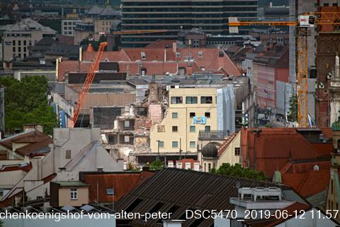 Abriss des Hotel Königshof